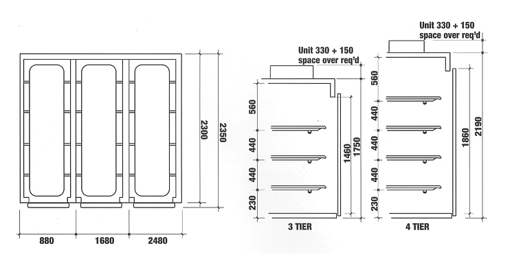 Multiple Mortuary Chamber Dimensions